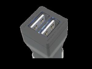 Ładowarka samochodowa 3.4A z podświetlanymi portami USB