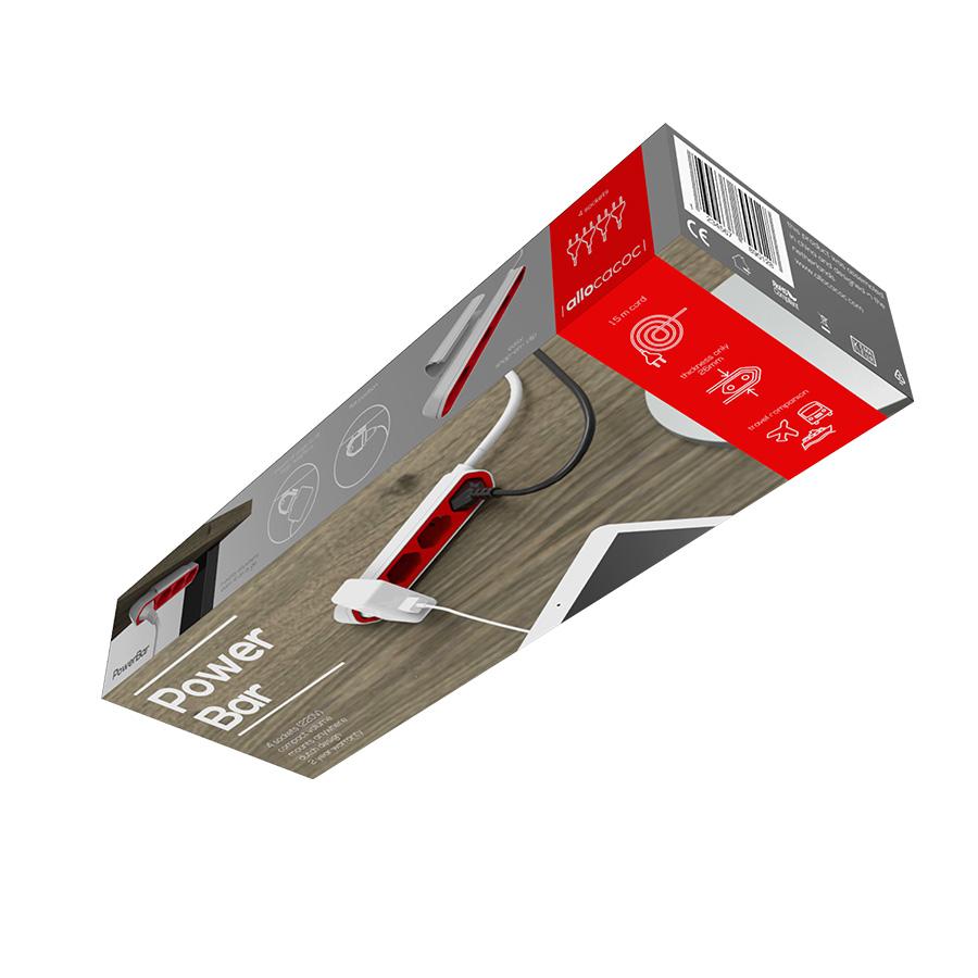 PowerBar listwa zasilająca 1,5m, przedłużacz, rozgałęźnik | XYOS